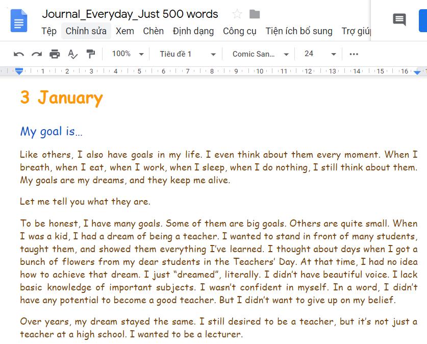 luyện viết tiếng Anh